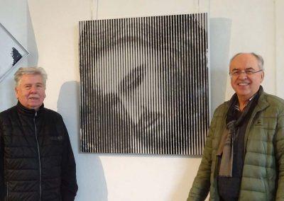 Dr. Burkhard Budde und Künstler Gerd Winner